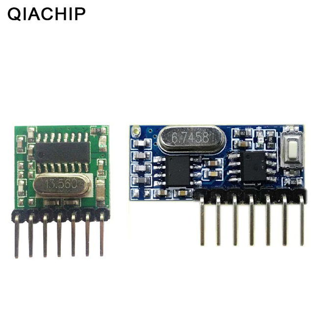 QIACHIP 433mhz Wireless Wide Voltage Coding Transmitter + Decoding Receiver 4 Channel Output Module For 433 Mhz Remote Controls
