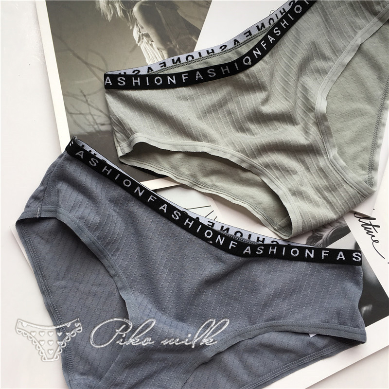 SP&CITY Fashion Sporty Cotton Seamless Soft Underwear Women Sexy Solid Low Waist Letter Patterned   Panties   Sex Female Lingerie
