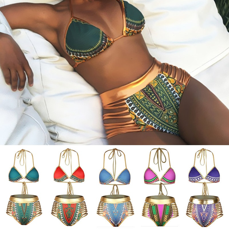 2018 Retro Bikini Set Women S-XXXL Plus Size Swimwear Female Brazilian Bikinis High Waist Swimwear Sexy Swimsuit Push Up Bikinis newest plus size bikini women ladies sexy retro padded push up high waist bikinis set swimwear swimsuit bathing xxxl