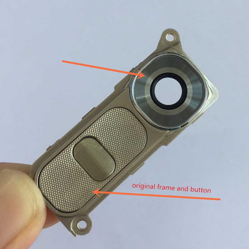 LG G4 H811 H815 F500 VS986 orijinal telefon yeni konut arka kamera cam Lens ile güç ses düğmesi anahtarı kapak + aracı