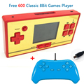 CoolBoy FCPOCKET Classic FC 8 bit Game Handheld Console Build-in 472 games Free 128 in 1 game cartridge 2nd Player Controller