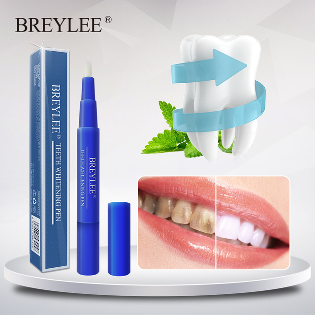 BREYLEE Teeth Whitening Pen Brush Oral Hygiene Essence Dentistry Cleaning Tooth Care Removes Plaque Stains Serum Dental Tools