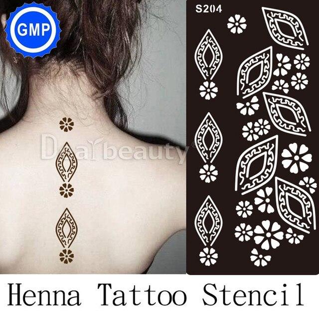 1 Stück Neue Henna Hand Tattoo Schablone Blume Glitter Airbrush
