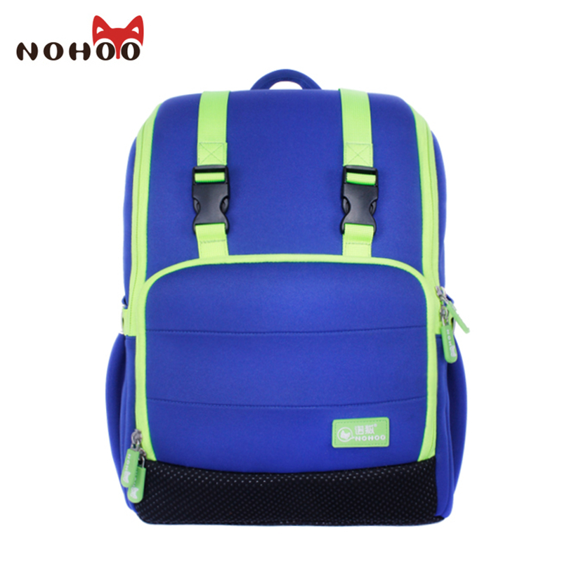 NOHOO Large Capacity Children Backpack for Students Orthopedic Waterproof School Bags for Teenager Shoulder Bag Backpacks delune new european children school bag for girls boys backpack cartoon mochila infantil large capacity orthopedic schoolbag