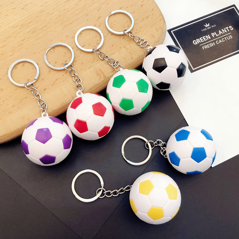 Soccer Keychain Women Men Pendant Fans Gifts Around Personality Car Key Chain Bag Pendant