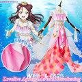 Anime!Lovelive Aqours All Members Ohara Mari Matsuura Kanan Kurosawa Dia Mermaid Awakening Party Dress Cosplay Costume Free Ship