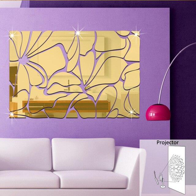 Modern Rectangular Wall Stickers Home Decoration Three dimensional ...