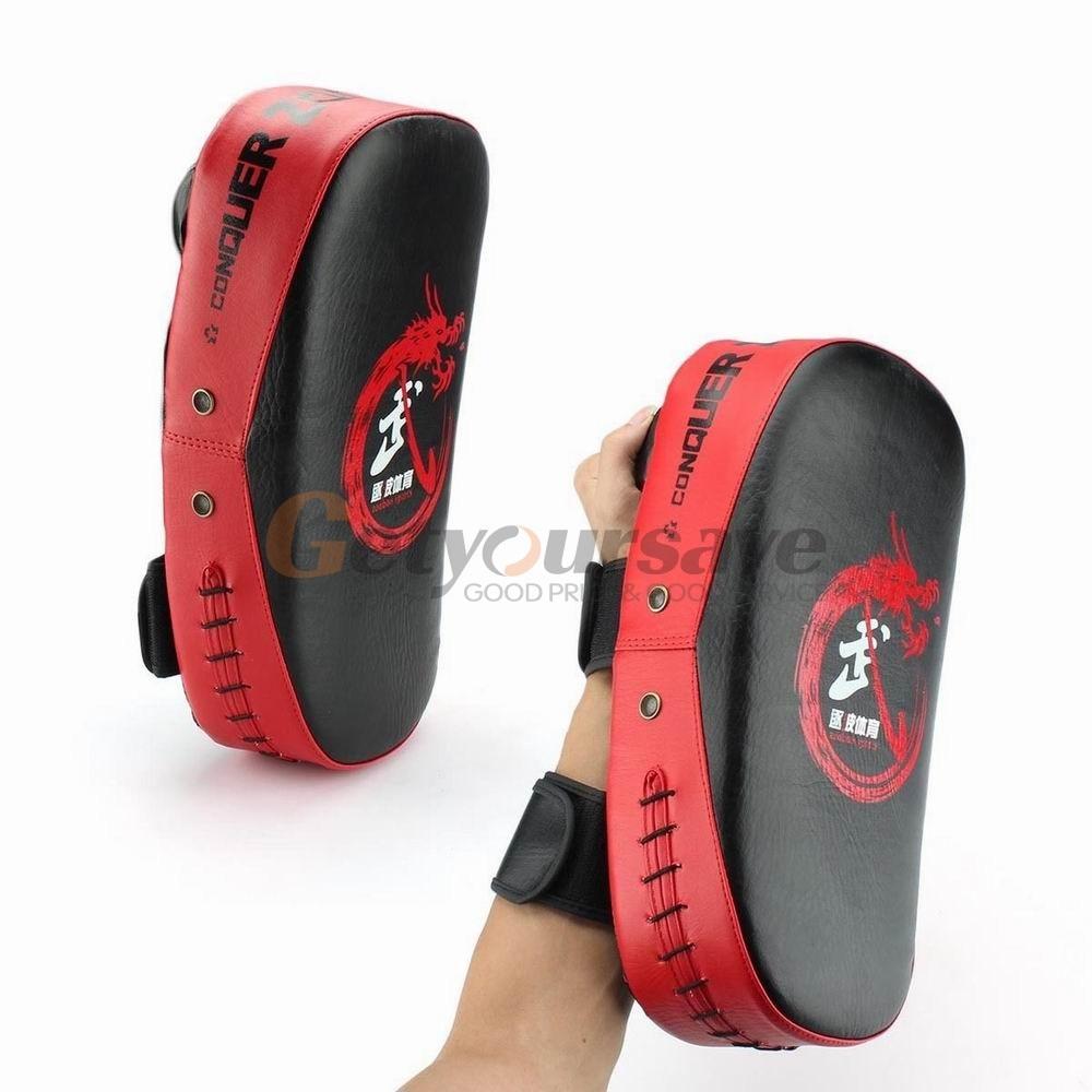 Fingerless gloves at target - Boxing Muay Thai Mma Target Martial Combat Karate Kicking Punching Training Pad Focus Punch Pad Target Training Glove