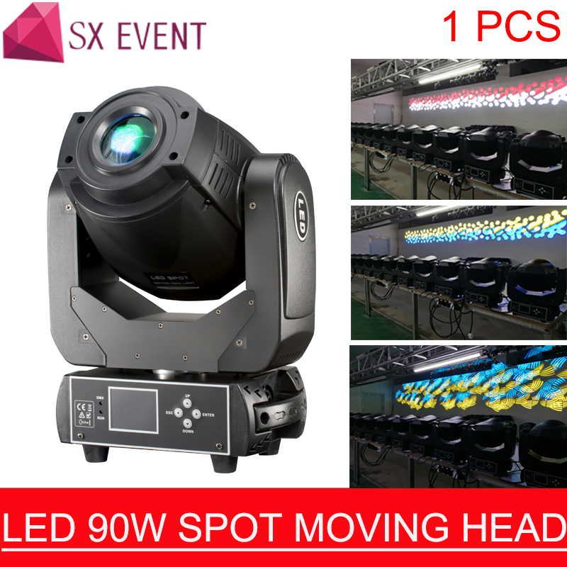 LED Spot Lyre 90W Gobo LED Lyre Moving Head Light Spot Moving Head Light for Stage Theater Disco Nightclub Party