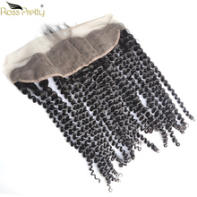 Pre Plucked Lace Frontal Kinky Curly hair Natural Color Remy Human Hair ear by Front 13x4 Closure Ross Pretty Product
