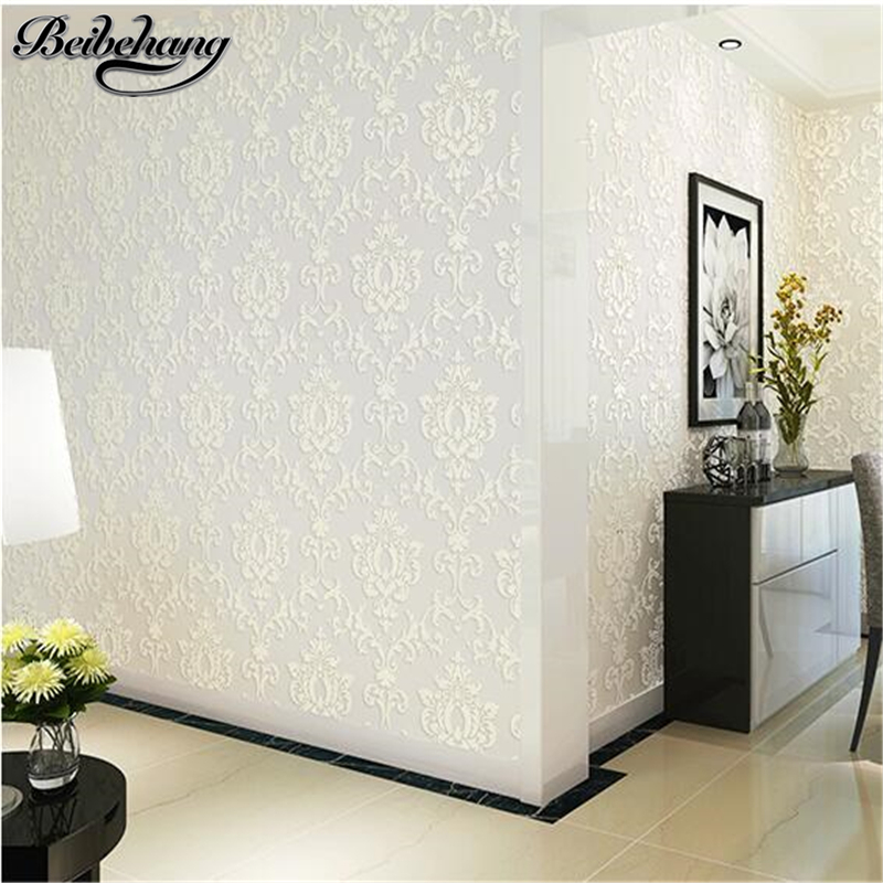 beibehang European-style pressure wallpaper 3d solid thick non-woven wallpaper bedroom living room TV background wallpaper beibehang european style damascus non woven 3d pressure three dimensional living room bedroom tv background wallpaper