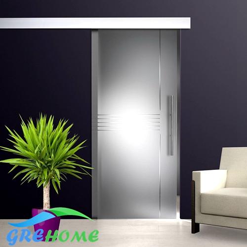 aleacin de aluminio de vidrio sin marco puerta corredera de rodillos kitchina mainland