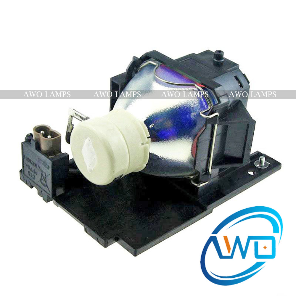 AWO New Compatible Projector Lamp CP-RX78 DT01026 with Housing for HITACHI CP-RX78/RX80W/ED-X24 dt01151 projector lamp with housing for hitachi cp rx79 ed x26 cp rx82 cp rx93 projectors