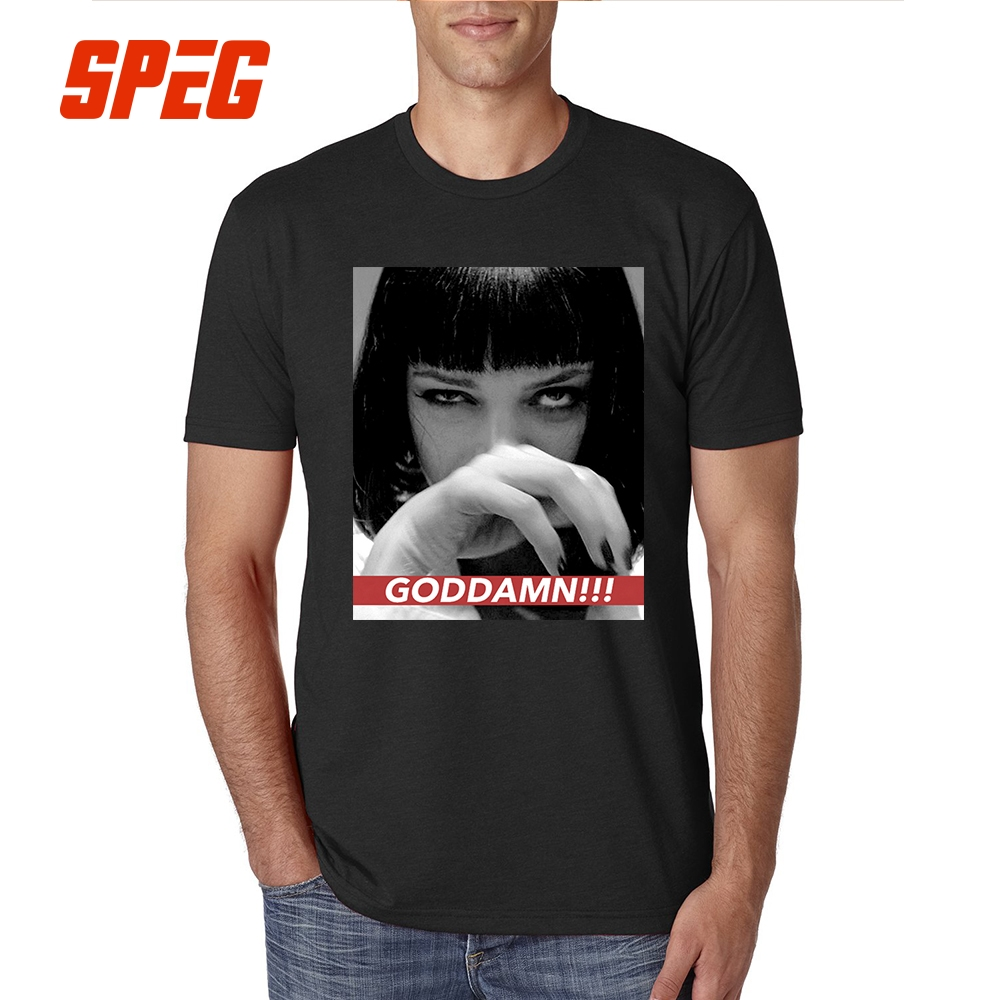 T     Shirts   Mia Wallace Quentin Movie Pulp Fiction Tee   Shirts   for Sale Men's Pre-Cotton Short Sleeve   T  -  Shirt   Hot Selling Men