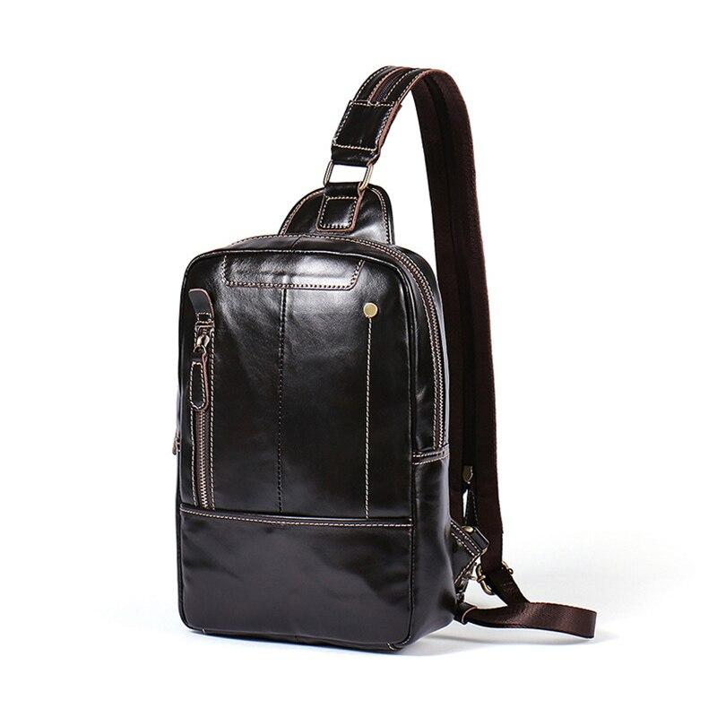 Brand chest bag Genuine Leather shoulder bag Men Messenger Chest Bag Pack Casual Bag Waterproof Shoulder Strap Pack for women nigeer men chest bag casual shoulder
