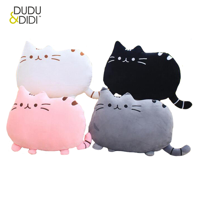 40*30cm Plush Toys Stuffed Animal Doll Toy Pusheen Cat Kawaii Cute Cushion Brinquedos Peluche WJ363 2015 kawaii biscuits cats 40 30cm cute stuffed animal plush toys dolls pusheen shape pillow cushion for kid home decoration