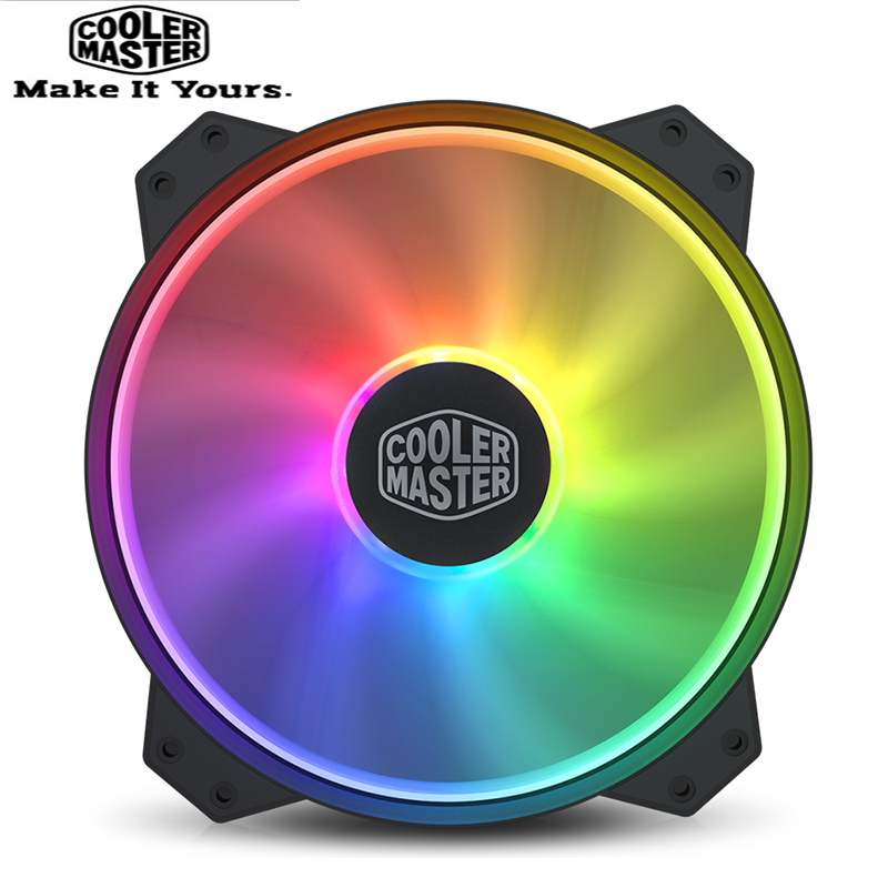 Cooler Master R4-200R-08FA-R1 MF200 ARGB 20cm RGB 5V/3PIN Computer Case Damping Fan CPU Cooler Water Cooling Replaces Fans