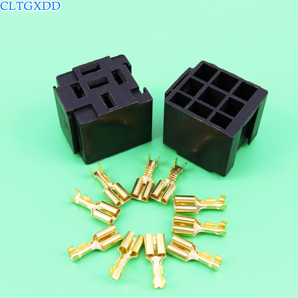 cltgxdd  Automotive Car Relay Sockets 5 Pin Mount Series Relays