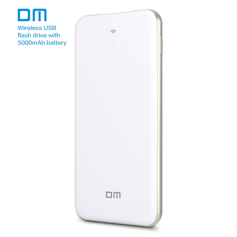 DM WFD028 Wireless USB Flash Drives 128GB WIFI Power Bank Share Data For iPhone Android PC