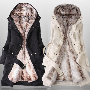 women faux fur lining snow coats winter europe long fur coat big