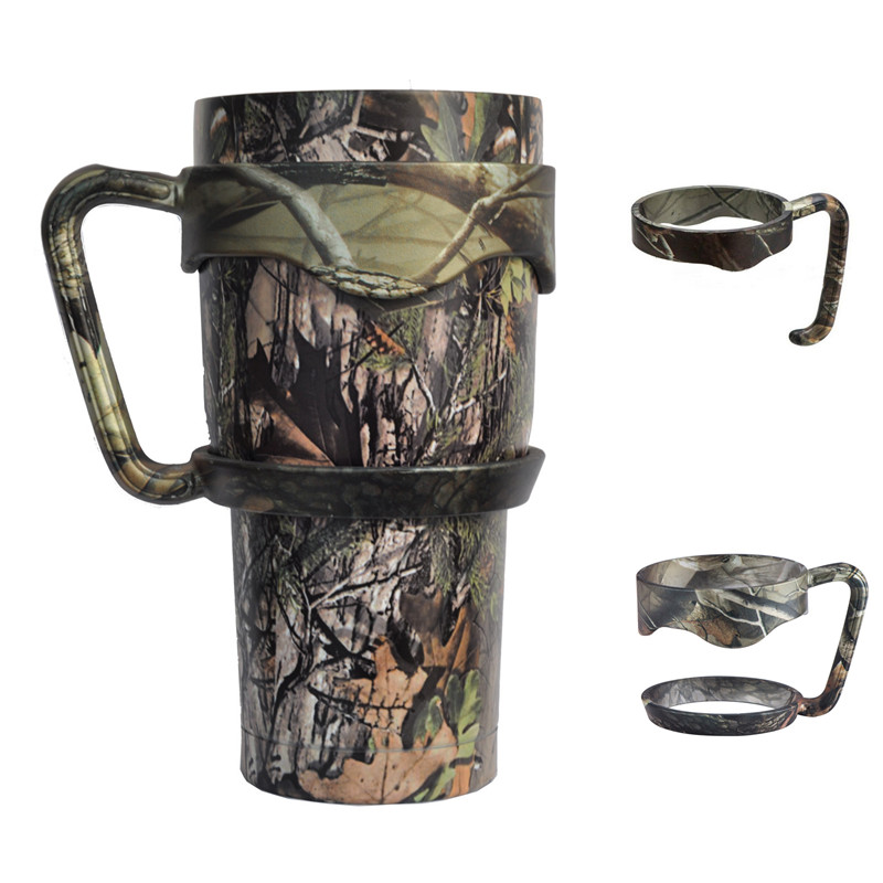 Camouflage Anti-Slip Seamless Handle <font><b>for</b></font> <font><b>YETI</b></font> <font><b>Tumbler</b></font> <font><b>20</b></font> 30 <font><b>OZ</b></font> Portable Plastic <font><b>Hand</b></font> <font><b>Holder</b></font> <font><b>for</b></font> <font><b>YETI</b></font> Rambler Cup Mugs