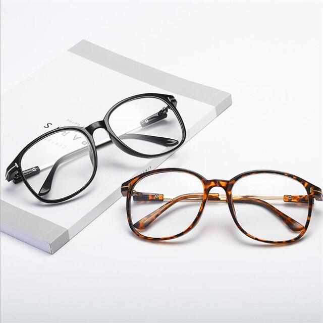 3f416bc889a Anti Blue Light Myopia Glasses Frame For Unisex Retro Oval Optics Glasses  Frames For Women Men Transparent and Black Frame