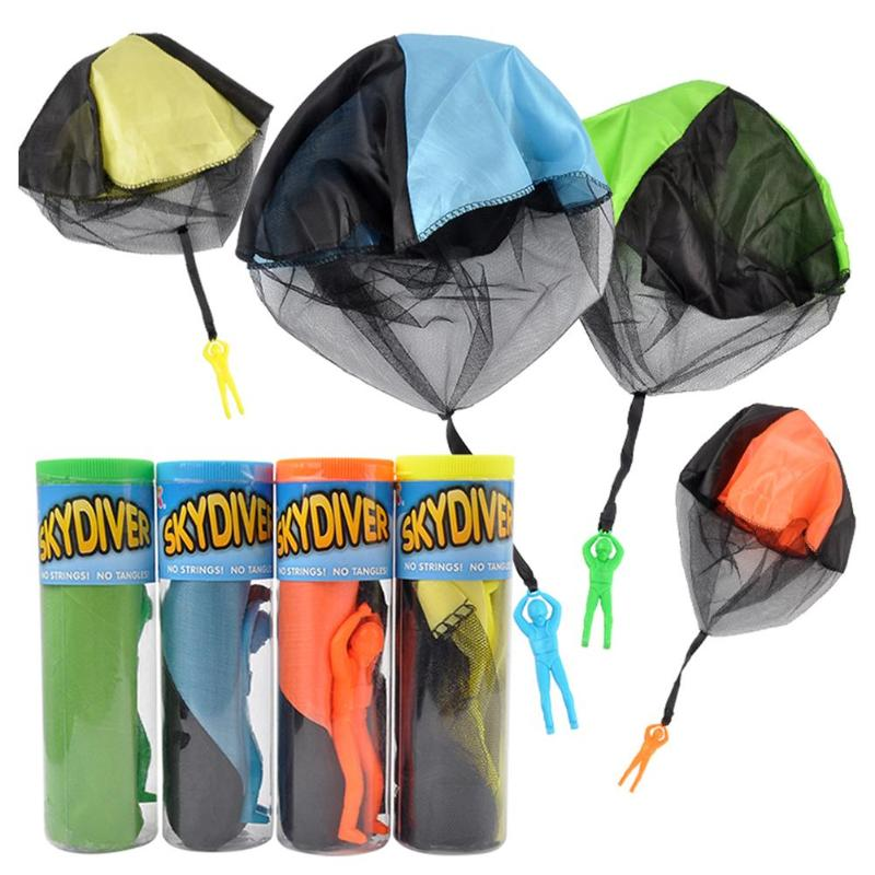 1pc Hand Throwing Kids Mini Play Parachute Toy Children Educational Outdoor Games Soldier Parachute Sports Toys Gift ...