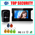 RFID card access control 7 inch video door phone system with RFID card reader 200 users wired door bell door video intercom