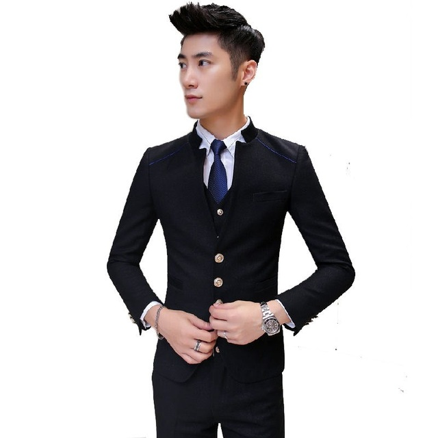 2016 new arrival high quality skinny black suits men ,casual suits ...