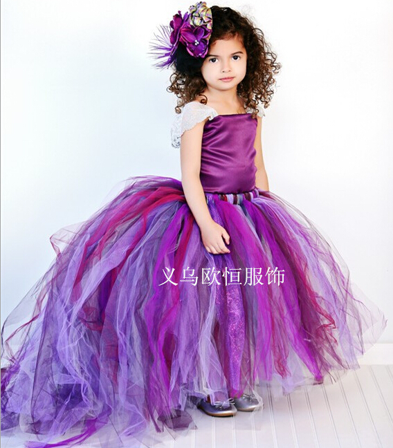 Aliexpress.com : Buy Flower Girl Dresses with Tailing 2017 Kid ...