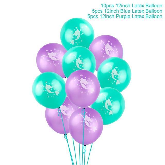 Mixed balloon Mermaid party plates 5c64f5cb2f6ec