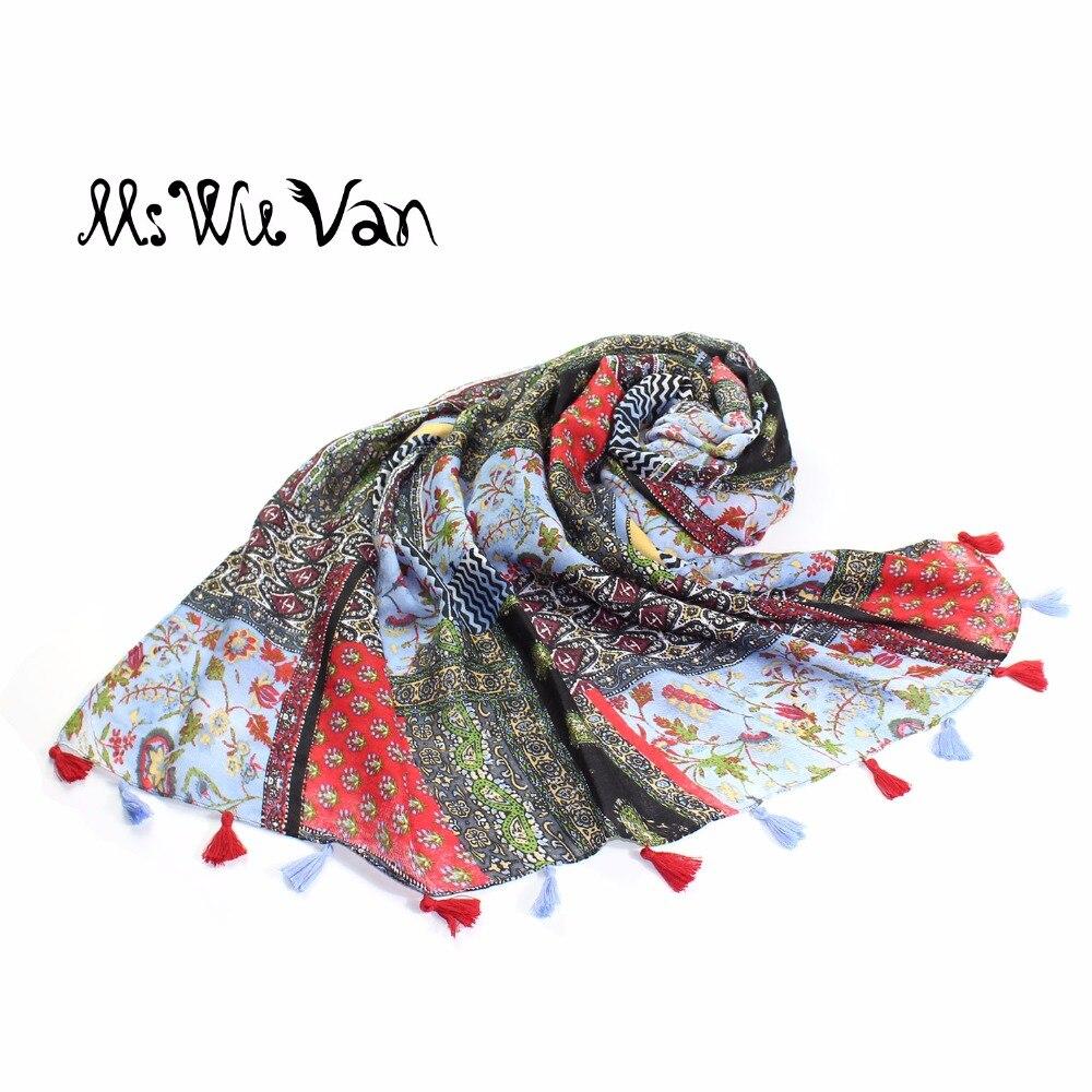 Bohemia bufanda floral para las mujeres India Bufandas remiendo étnico impresión Boho manta pareo Beach pareos hippie tribu algodón