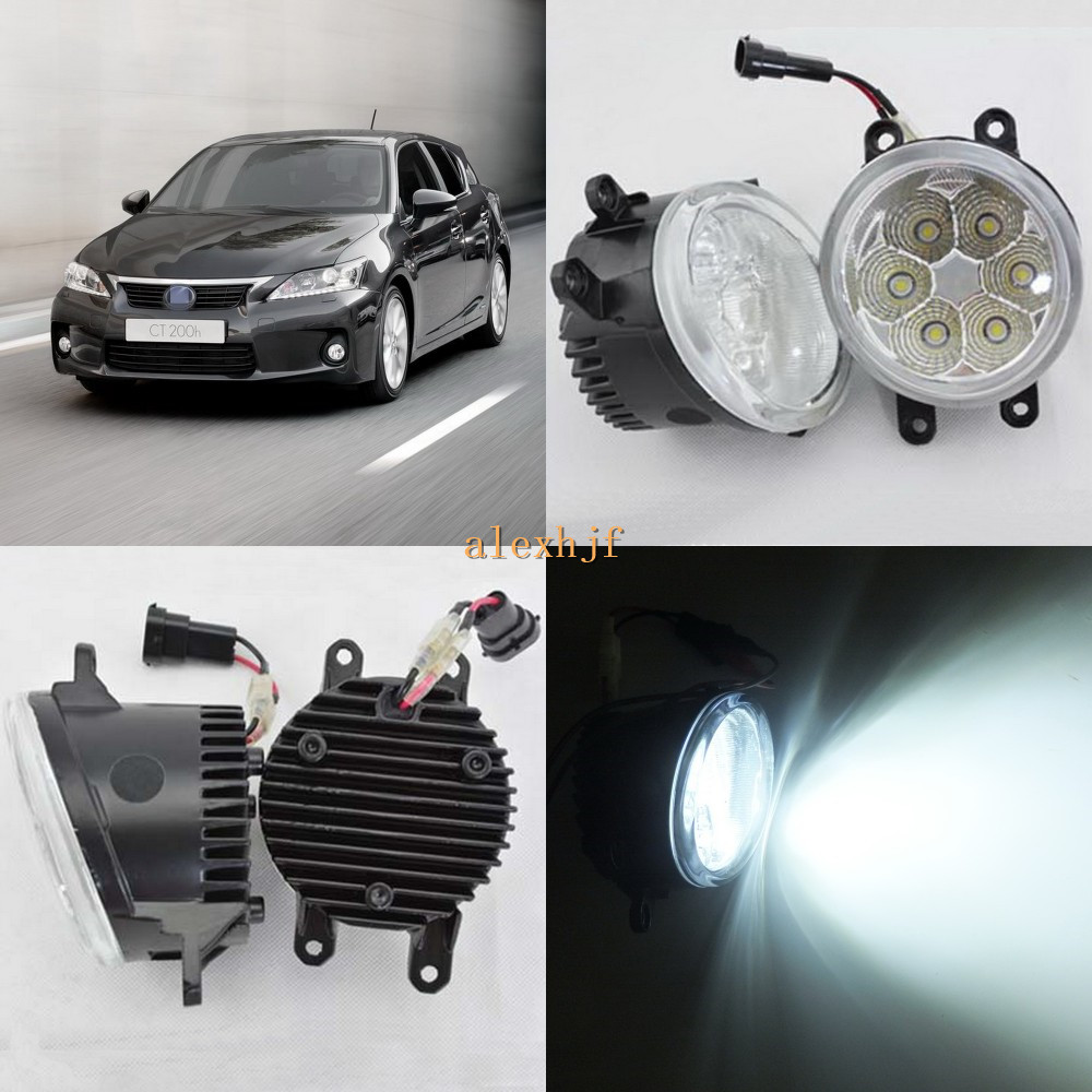 July King 18W 6500K 6LEDs LED Daytime Running Lights LED Fog Lamp case for Lexus CT200h 2011~2014, over 1260LM/pc портмоне мужское кожаное naijie nj605
