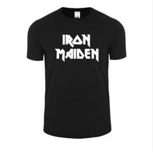 Iron Maiden T Shirts Brand Heavy Metal Streetwear Punk Rock Band Men's T-Shirt 100% Cotton Casual Short Sleeve Tshirt Tops Tees