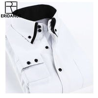 2017 New Winter Men S Warm Shirt High Quality Thicken Cotton Slim Fit Long Sleeved Mens