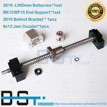 20 мм Диаметр 10 мм Шаг SFU2010 ШВП L900mm+ 2010 Ballnut+ BK15 BF15 поддержки+ 2010 гайка корпус кронштейн+ челюсть муфта