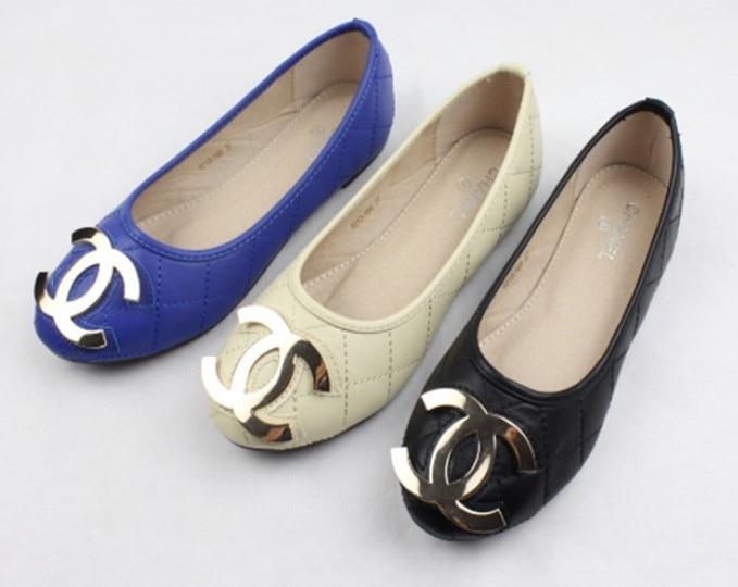 2014 women lozenge round flat shoes large size - Fashion Tribe 0001 store