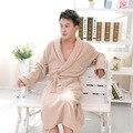 Махровые Халаты Мужские Зимние 100% Хлопок Банный халат Утолщение Полотенце Пижамы Долго Кимоно Халат Женские Халаты