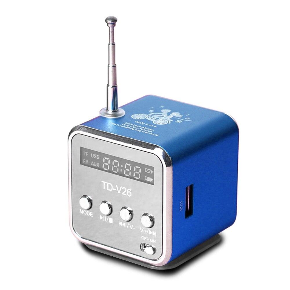TD-V26 Mini Radio Fm Digitale Tragbare Fm Radio Empfänger Mit Lautsprecher Unterstützung SD/TF Karte Für Mp3 Musik Player USB Lade