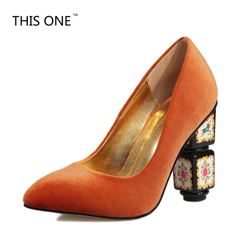 34 rot Heel Pumps rot Diese Frau Ethnische Frauen orange Seltsam Partei Marke 43 grün Schwarzes High Verkauf Stil Schuhe Große wein Klassische Super Größe 2018 Freizeit 77PwgY