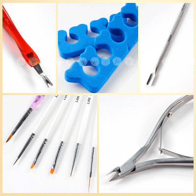 Акриловый порошок для ногтей+ УФ-гель Типсы Французский маникюр/кисти/Маникюрный набор полный набор-NA830