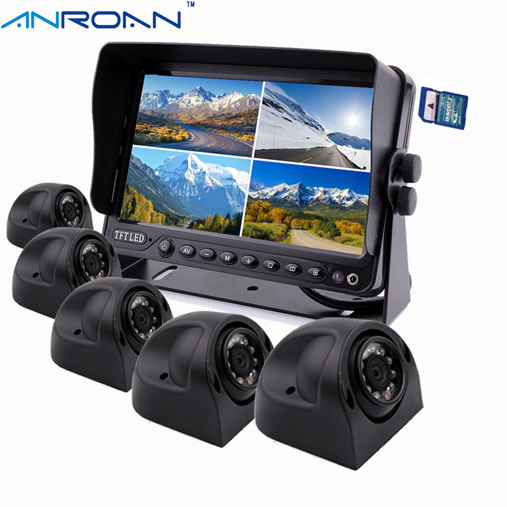"9"" DVR Recorder Monitor Car Rear View Camera System 5 X"