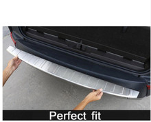 Stainless Steel Rear Door Outside Bumper Protector Sill Scuff Plate For Land Rover Discovery 5 2017 LR5 Car Accessories high quality stainless steel scuff plate door sill and rear bumper protector sill for skoda kodiaq 2017 2018 2019 car styling