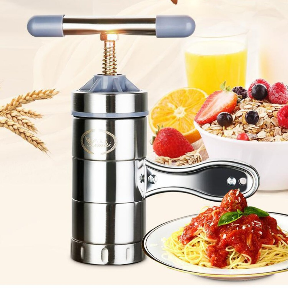 Stainless Steel Manual Noodle Maker Kitchen Pasta Spaghetti Press Pates Machine Vegetable Fruit Juicer Pressing Machine цена