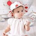 Nueva Corea Lindo Bebé sombrero para el Sol Sombrero de Verano Dot con el Oído Sombrero de Pescador Cuenca Niños Casquillo de la Playa Al Aire Libre Sombrero Del Cubo