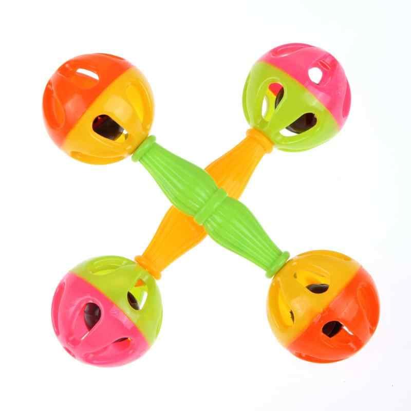 ألعاب الأطفال خشخيشات تهز دومبل البلاستيك اليد جرس التنمية المبكرة ألعاب الأطفال 0-12 أشهر الطفل الموسيقية اليد تهز دمية شخشيخة
