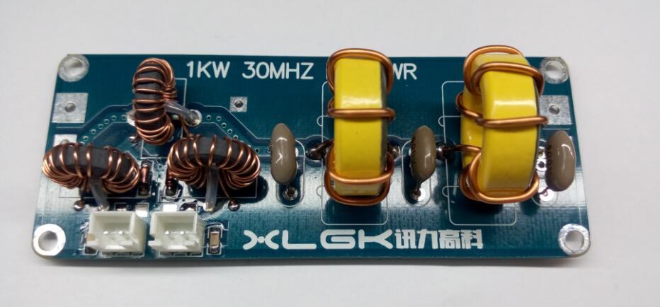 Filtro de paso bajo para salida de amplificador HF SSB 1000 W 1KW 30 MHZ SWR