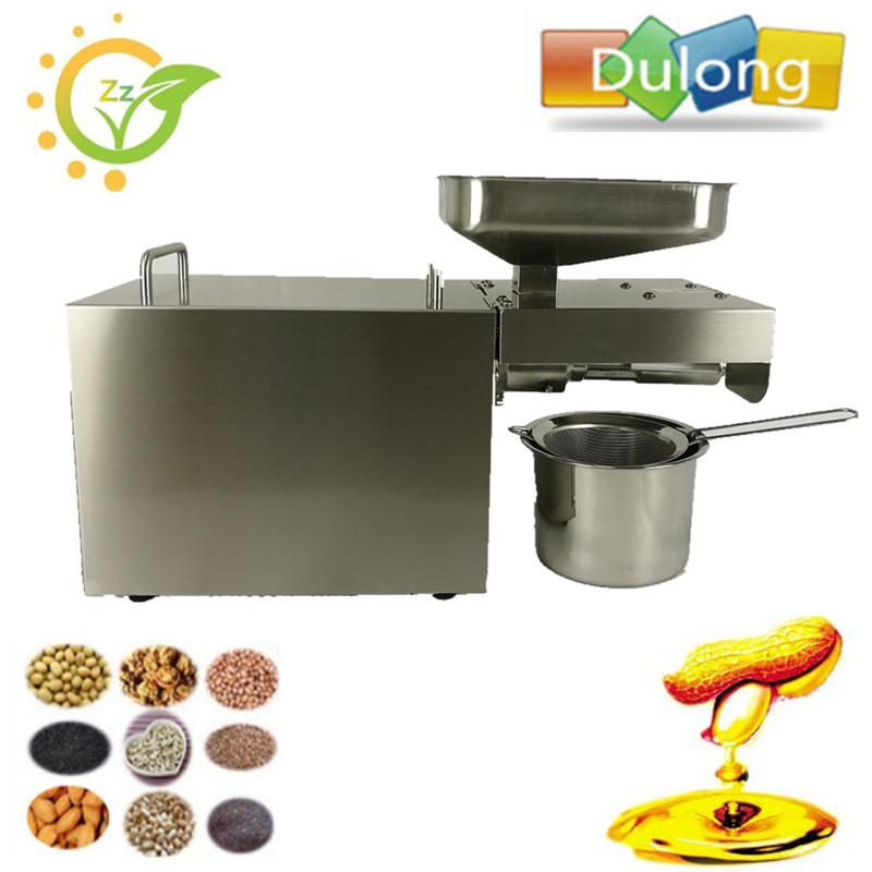 Automatic Nut Seeds Oil Expeller Cold Hot Press Machine Oil Extractor Dispenser 350W Canola Oil Press Machine automatic stainless steel cold press oil extraction machine heat seeds oil press machine acoconut almond nut oil extractor