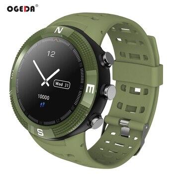 2018 New OGEDA F18 GPS Adult Smart watch Luxury curved large disc Bluetooth 4.2 Waterproof Swim Multi-sport tracking Smart Clock