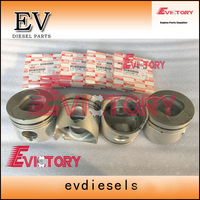 4JB1 4JB1T piston +piston ring For Isuzu engine excavator Truck